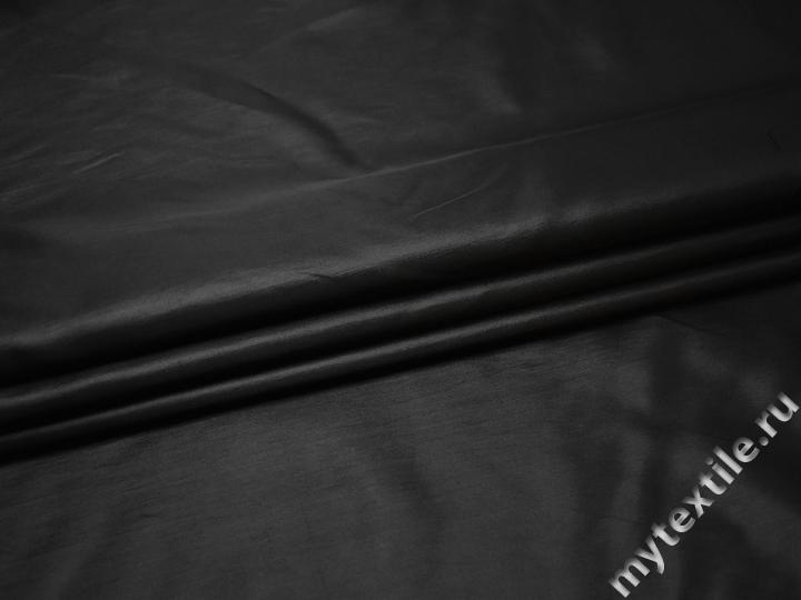 Плательная черная ткань полиэстер БА246
