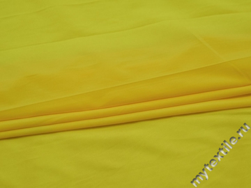 Плательная желтая ткань полиэстер эластан БА227
