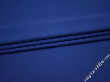 Плательная синяя ткань полиэстер БА224