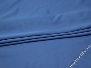 Плательная голубая ткань полиэстер БА470
