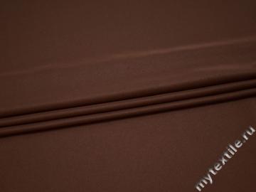 Плательная коричневая ткань полиэстер БА215