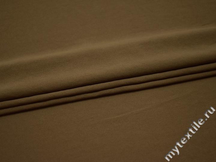 Плательная коричневая ткань полиэстер БА213