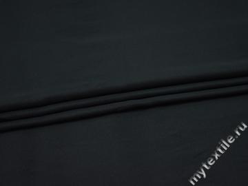 Плательная темно-синяя ткань полиэстер БА211