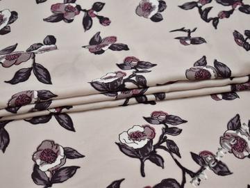 Плательная ткань с цветочным узором хлопок ББ274