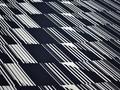 Плательная синяя белая ткань геометрия полиэстер ББ165