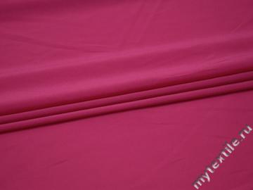 Плательная малиновая ткань полиэстер БА2103