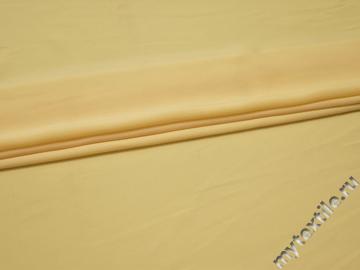 Плательная желтая ткань полиэстер БА293