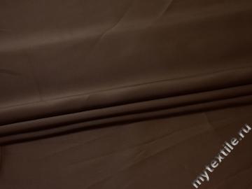 Плательная коричневая ткань полиэстер БА284