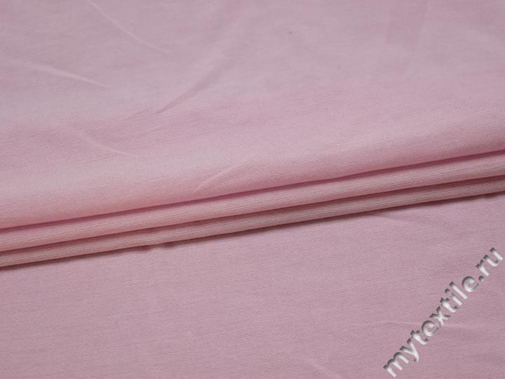 Плательная розовая ткань вискоза БВ13