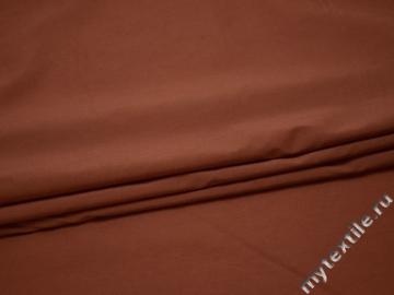 Плательная терракотовая ткань вискоза полиэстер БВ17