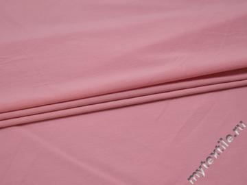 Плательная розовая ткань вискоза полиэстер БВ115