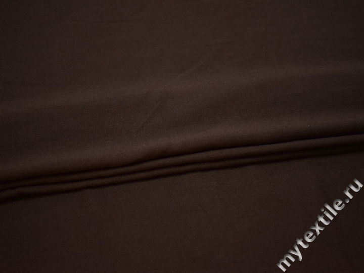 Плательная коричневая ткань вискоза эластан БВ136