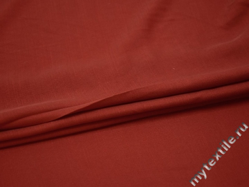 Плательная терракотовая ткань вискоза полиэстер БВ138
