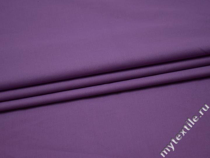 Плательная сиреневая ткань вискоза полиэстер БВ164