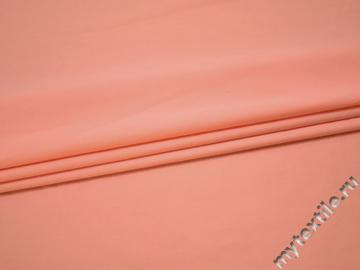 Плательная персиковая ткань хлопок полиэстер БВ159