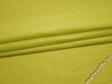 Плательная салатовая ткань хлопок БВ192