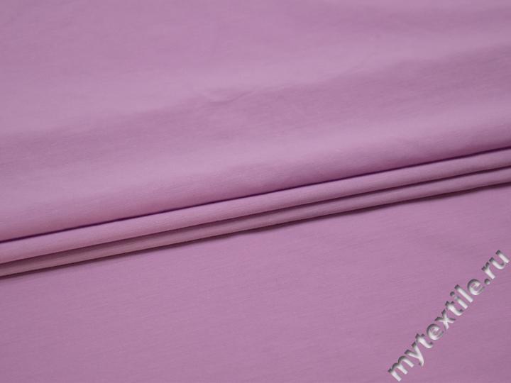 Плательная сиреневая ткань хлопок полиэстер БВ181