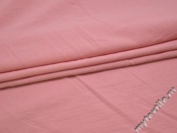 Плательная розовая ткань хлопок БВ14