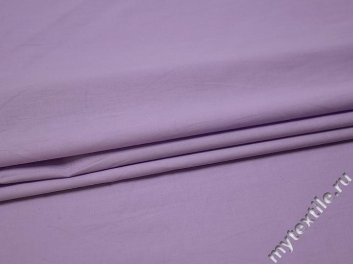 Плательная сиреневая ткань хлопок БВ19