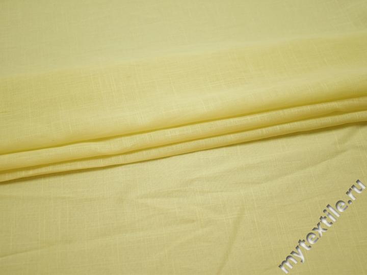 Плательная лимонная ткань хлопок БВ119