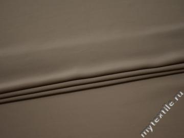 Плательная бежевая ткань полиэстер БА110