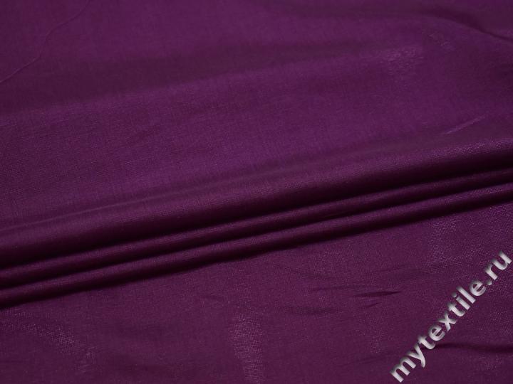 Плательная фиолетовая ткань вискоза полиэстер БА342