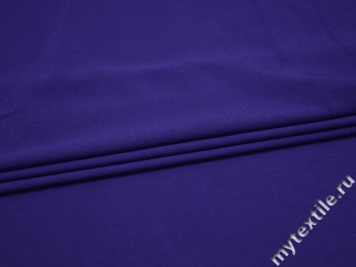 Плательная синяя ткань полиэстер БА335