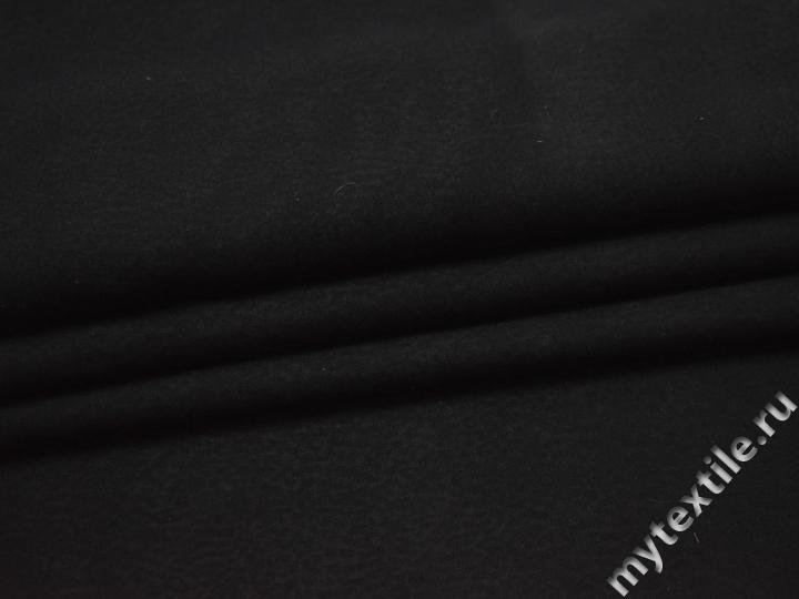 Плательная черная ткань вискоза БА334