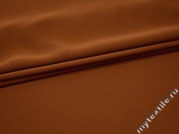 Плательная терракотовая ткань полиэстер БА327