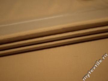 Плательная золотая ткань полиэстер БА324