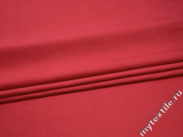 Плательная розовая ткань полиэстер БА319