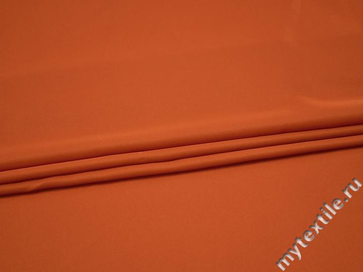Плательная оранжевая ткань полиэстер БА317