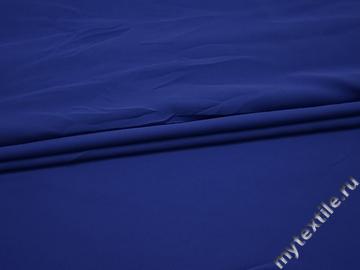 Плательная синяя ткань полиэстер вискоза БА37