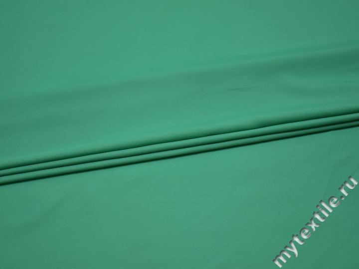 Плательная бирюзовая ткань полиэстер БА36