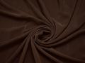 Плательная коричневая ткань полиэстер БА34