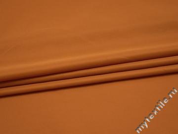 Плательная оранжевая ткань полиэстер БА364