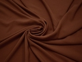 Плательная коричневая ткань полиэстер БА3121