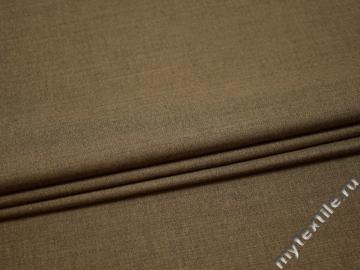 Костюмная бежевая ткань шерсть полиэстер ВГ533