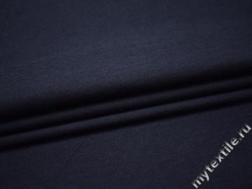 Костюмная синяя ткань хлопок ВГ530