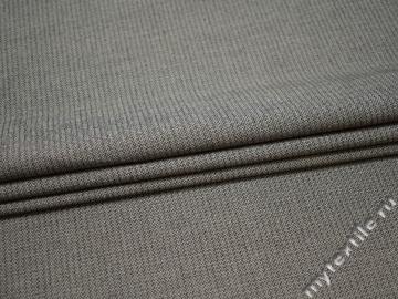 Костюмная серо-черная ткань хлопок полиэстер ВГ520