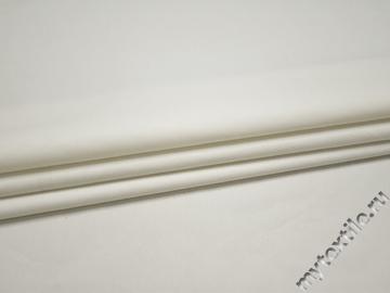 Костюмная белая ткань хлопок полиэстер ВГ451