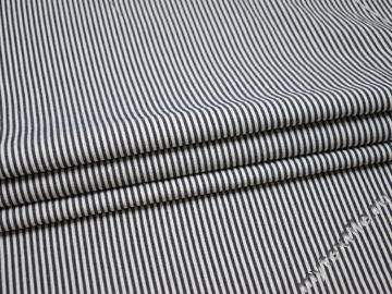 Рубашечная сине-белая ткань полоска хлопок БГ230