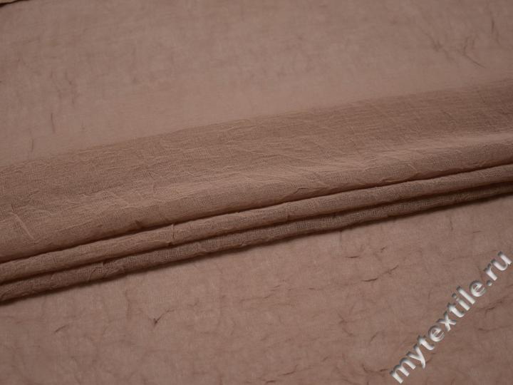 Штапель цвета капучино вискоза БВ294
