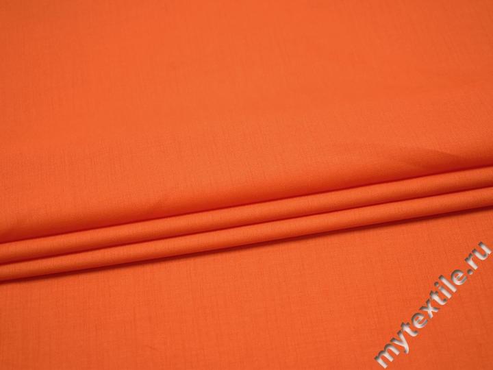 Плательная оранжевая ткань полиэстер БВ286