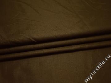 Костюмная цвета хаки ткань вискоза БВ198