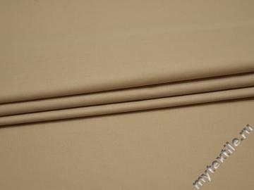 Костюмная бежевая ткань вискоза полиэстер БВ267