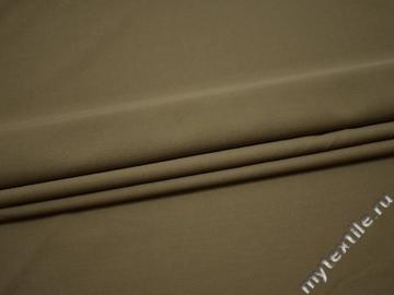 Костюмная оливковая ткань вискоза полиэстер эластан ГГ637
