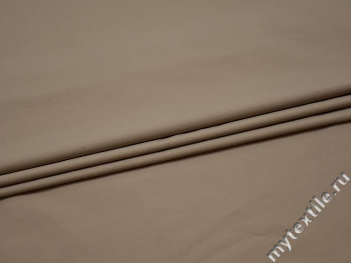 Рубашечная бежевая ткань полиэстер БЕ36