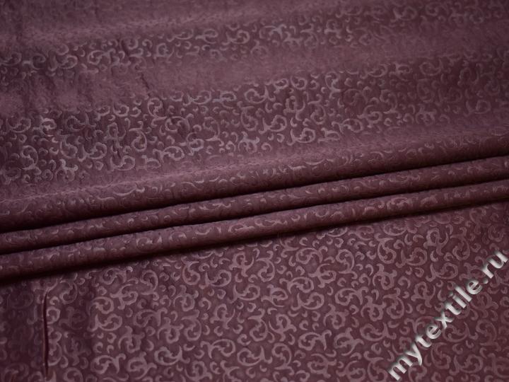 Плательная сиреневая ткань полиэстер БА144