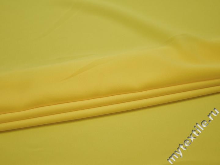 Плательная желтая ткань полиэстер БА143